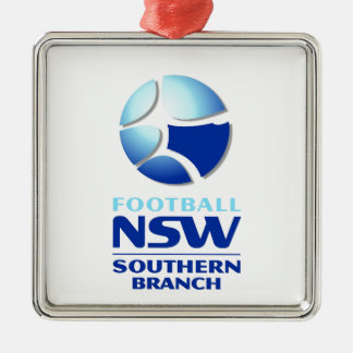 Football NSW Southern Branch Official Merchandise Silver-Colored Square Decoration