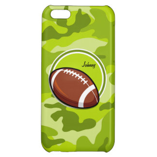 Football on bright green camo camouflage iPhone 5C case