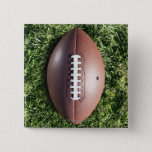 Football on Grass 15 Cm Square Badge