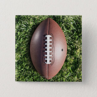 Football on Grass 15 Cm Square Badge
