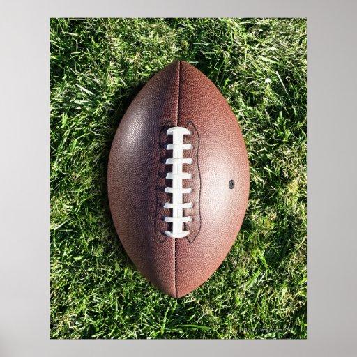 Football on Grass Poster