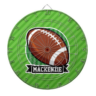 Football on Green Stripes Dartboard