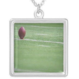 Football on Tee Silver Plated Necklace