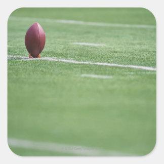 Football on Tee Square Sticker