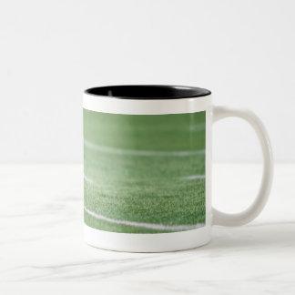 Football on Tee Two-Tone Coffee Mug