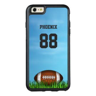 Football on the Grass Blue Sky Name and Number OtterBox iPhone 6/6s Plus Case