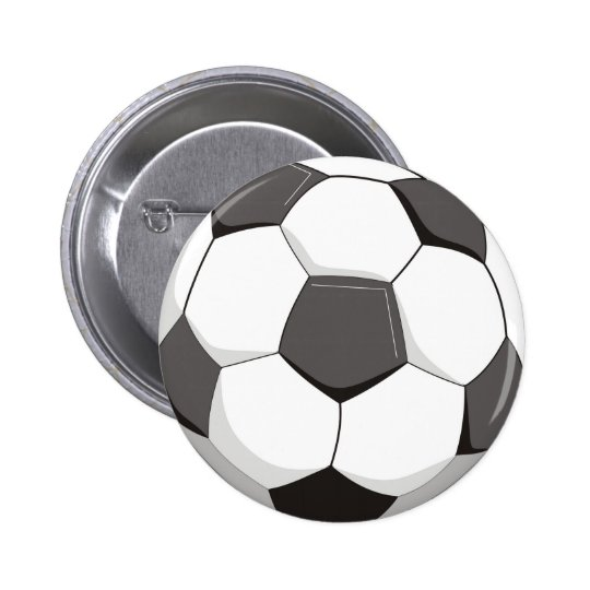 Football or Soccer ball 6 Cm Round Badge
