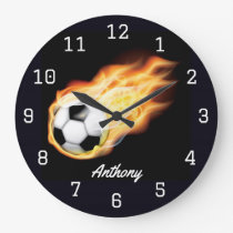 Football or Soccer personalised Large Clock