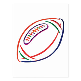 Football Outline Postcard