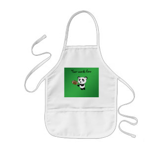 Football panda green apron