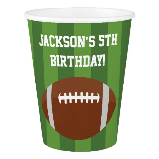 Football Paper Cups | Birthday Party Ideas
