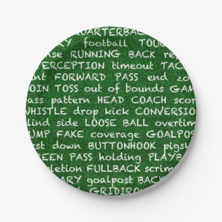 football paper plate