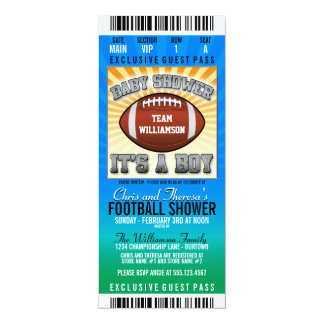 Football Party Baby Shower 10 Cm X 24 Cm Invitation Card