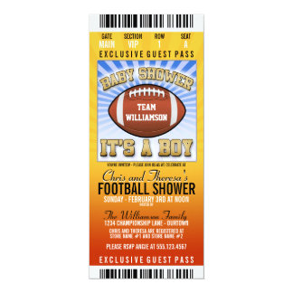 Football Party Baby Shower Personalized Announcements