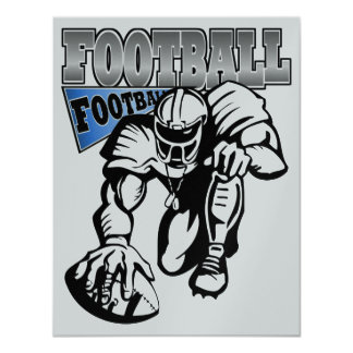 Football Party Blue and White (Black) by SRF 11 Cm X 14 Cm Invitation Card