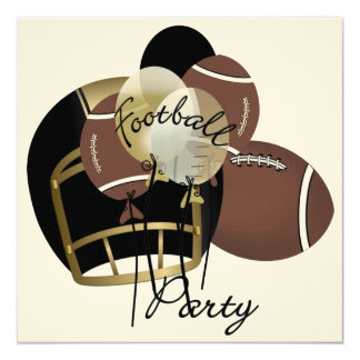 """Football Party by SRF 5.25"""" Square Invitation Card"""