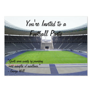 Football Party Card