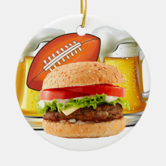 Football Party Christmas Ornament