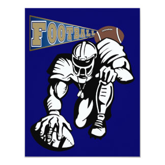 Football Party Gold and Blue by SRF 11 Cm X 14 Cm Invitation Card