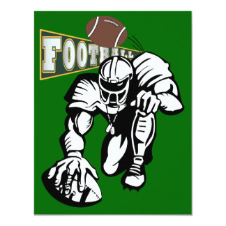 Football Party Green and Yellow by SRF Custom Announcement