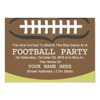 Football Party Invitation