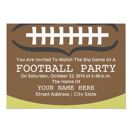Football Party Invitation