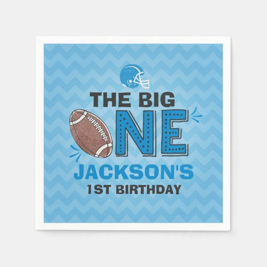 Football Party Napkin Football 1st Birthday Disposable Napkin