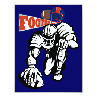 Football Party Orange and Blue by SRF Invite