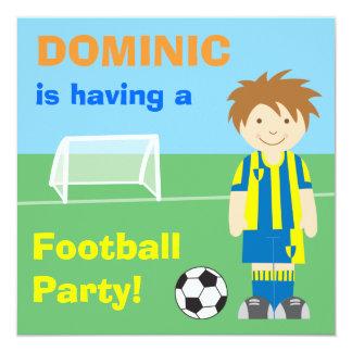 Football party personalised invitation