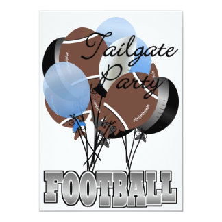 "Football Party Tailgate Invitation by SRF 5"" X 7"" Invitation Card"