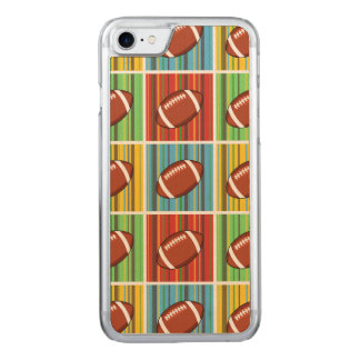 Football Pattern Carved iPhone 8/7 Case