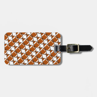 Football Pattern Luggage Tag