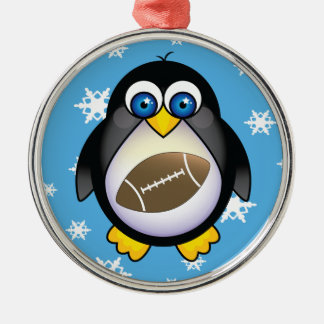 Football Penguin Funny Team Ornament Gift