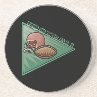 Football Pennant Beverage Coasters