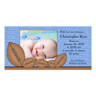 Football PHOTO  Boy Birth Announcement Photo Cards