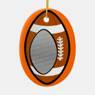 football photo ornament