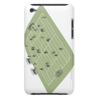 Football pitch iPod Case-Mate case