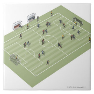Football pitch large square tile