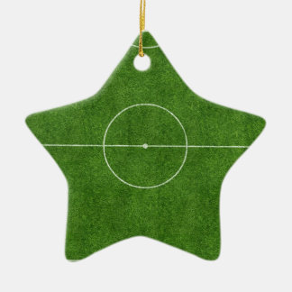 football pitch soccer footy grass design christmas ornament