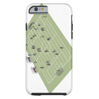 Football pitch tough iPhone 6 case