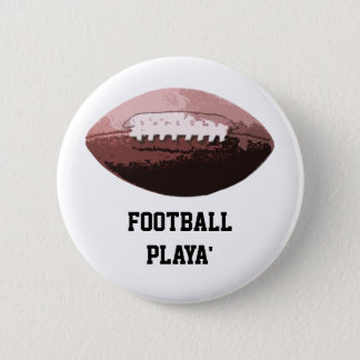 Football Playa' 6 Cm Round Badge