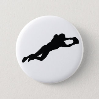 Football Player 6 Cm Round Badge