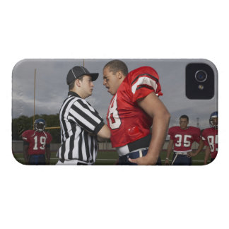 Football Player Arguing with Referee iPhone 4 Case-Mate Case
