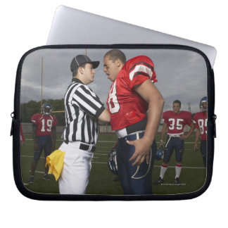 Football Player Arguing with Referee Laptop Sleeve
