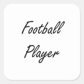 Football Player Artistic Job Design Square Sticker