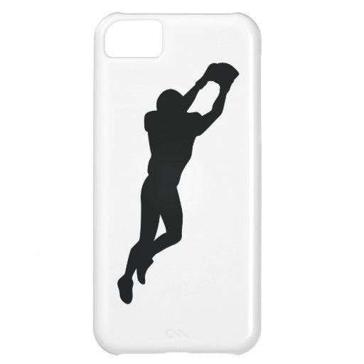 Football Player Black Silhouette iPhone 5C Covers