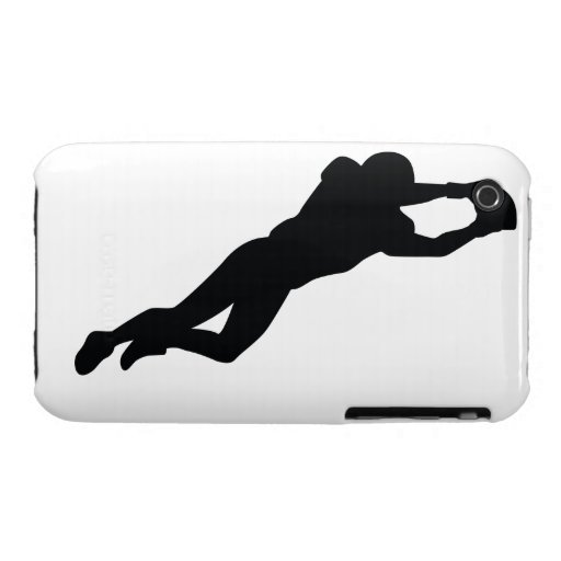 Football Player Black Silhouette iPhone 3 Covers