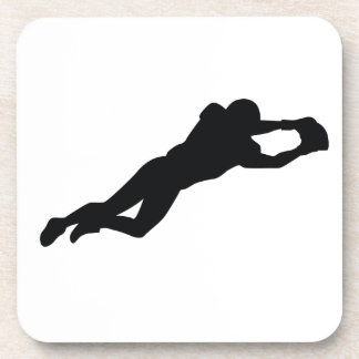 Football Player Black Silhouette Coaster