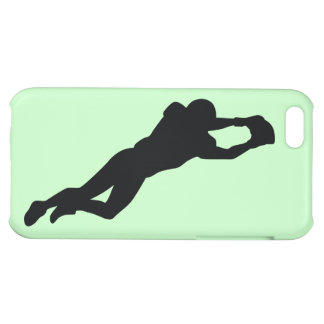 Football Player Black Silhouette iPhone 5C Cases
