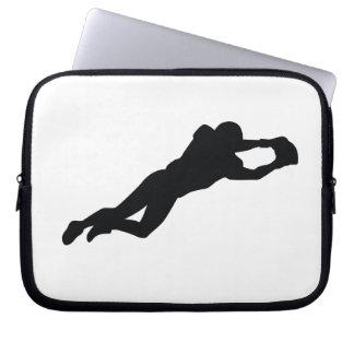 Football Player Black Silhouette Laptop Computer Sleeve
